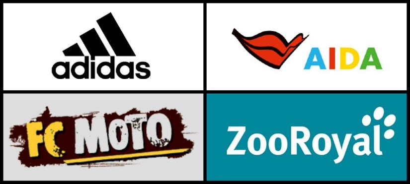 Logo-Collage von Sport- und Freizeit-Shops
