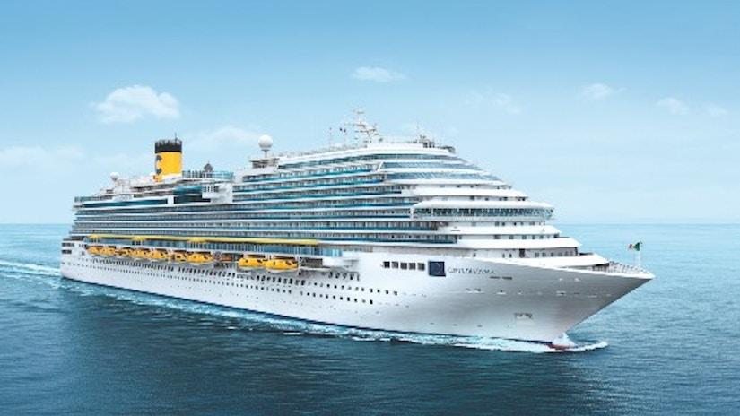 Ein Kreuzfahrtschiff auf hoher See