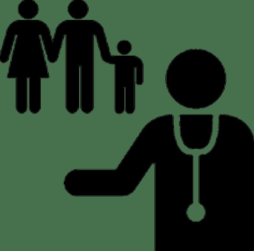 Arzt und Familie