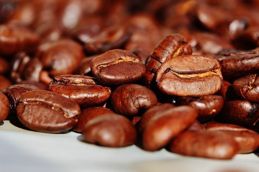 Makroaufnahme von Kaffeebohnen