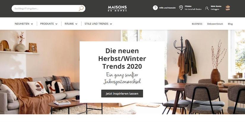 Screenshot Maisons du Monde