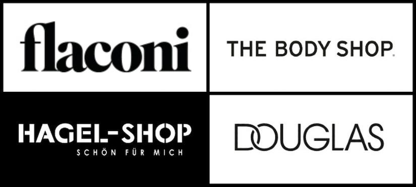 Logo-Collage von Parfum-Shops
