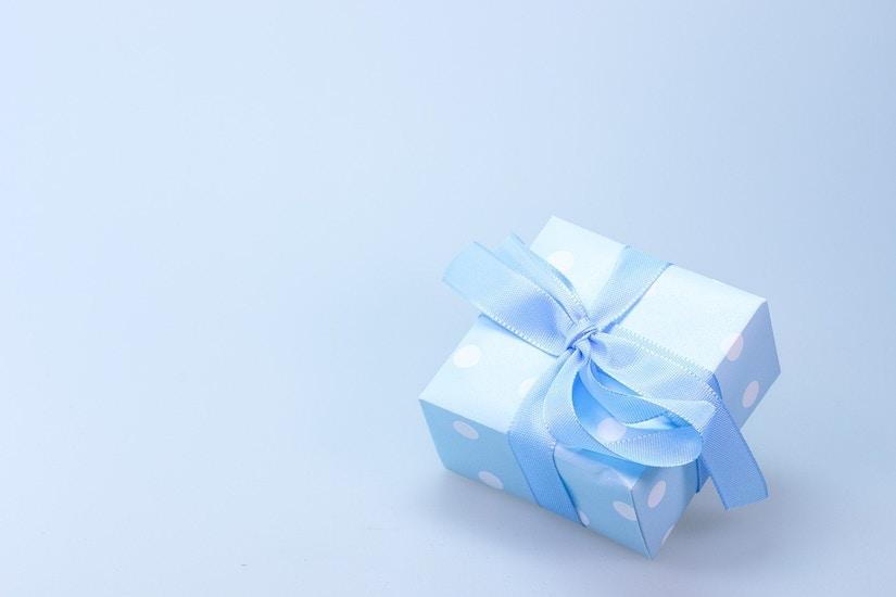 Geschenk Päckchen blau