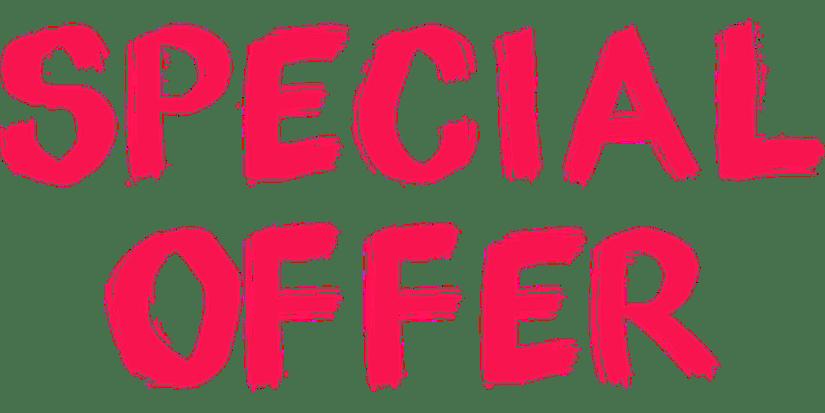 Schriftzug Special Offer