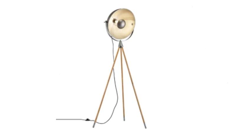Industrial Stehlampe mit drei Beinen
