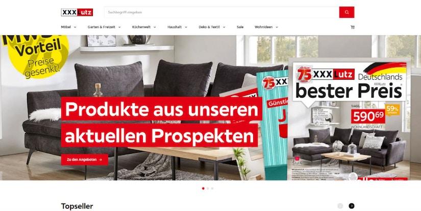 Screenshot XXXLutz- Produkten aus den aktuellen Prospekten