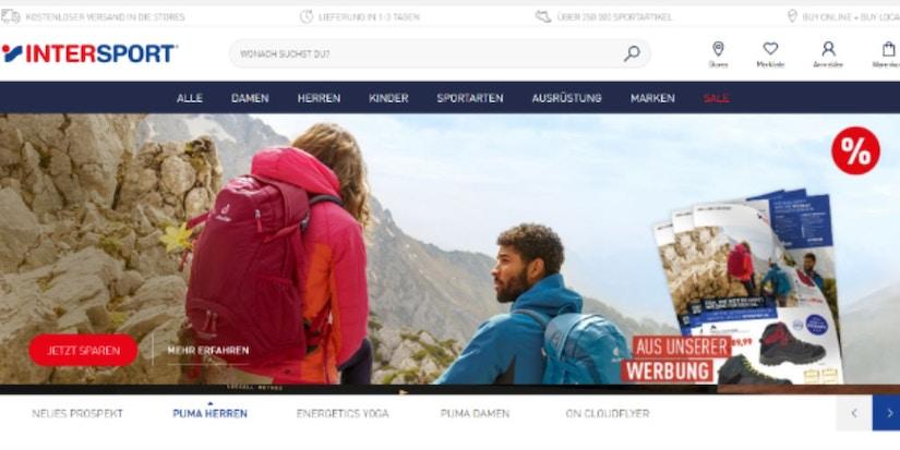 Screenshot INTERSPORT - zwei Wanderer