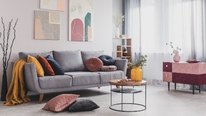 Ein stylisches Wohnzimmer