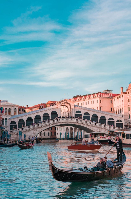 Gondel in Venedig in der Abendsonne