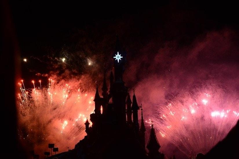 Feuerwerk Schloss Disneyland Paris