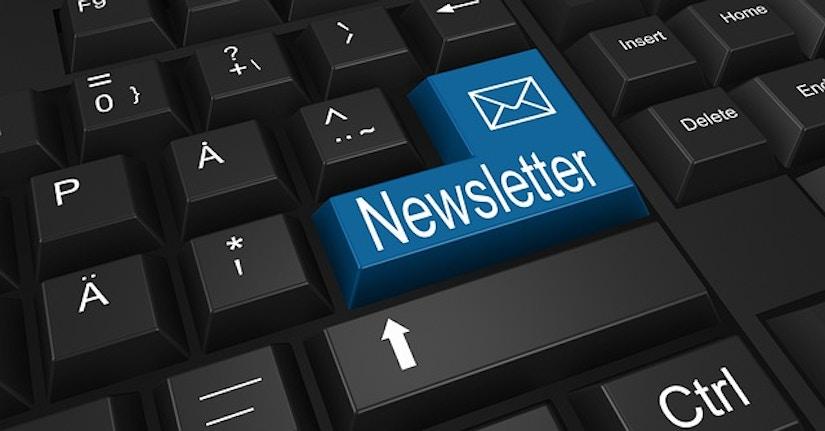 Tastatur mit Newsletter-Taste