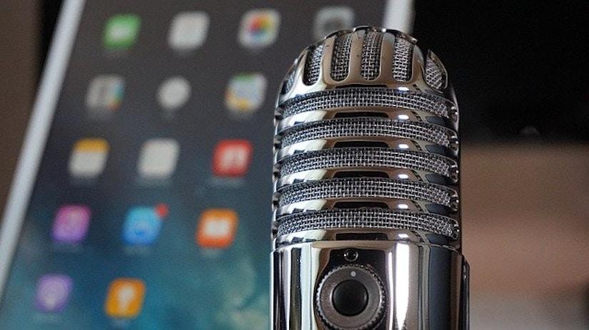 Mikrofon und Tablet