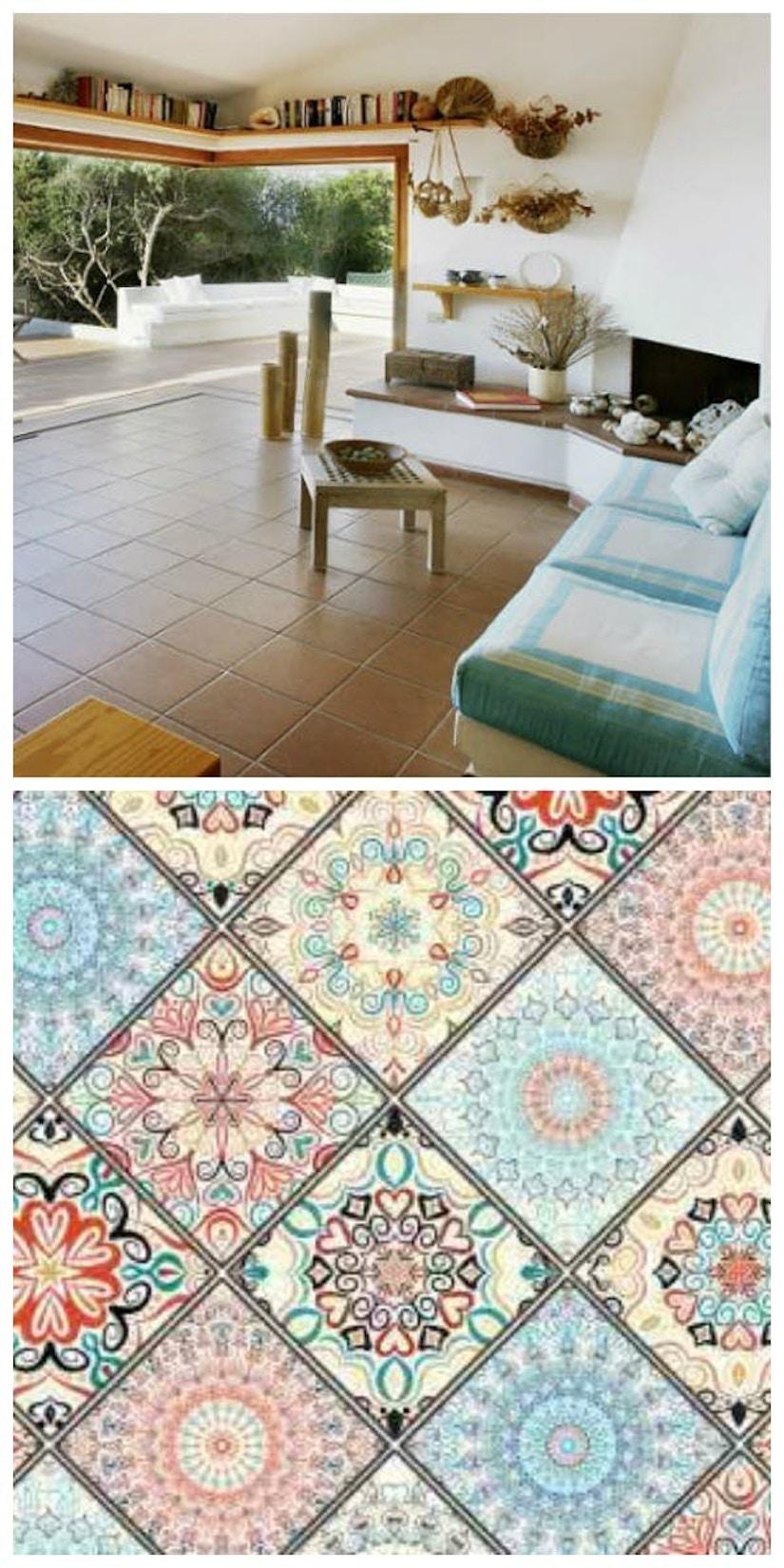 Collage des Wohnstils Mediterran