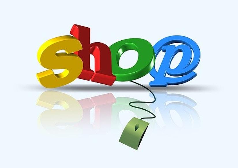 Farbiges Bild 'Shop' mit Maus