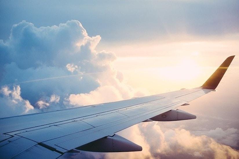 Blick aus dem Flugzeug: Wolken