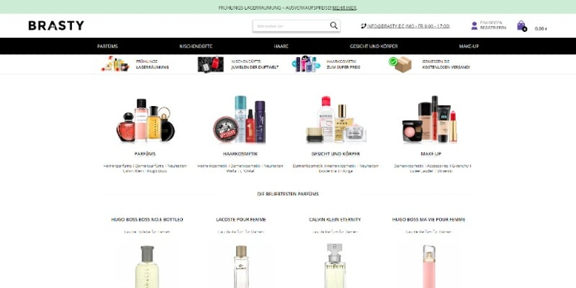 Screenshot Webseite BRASTY