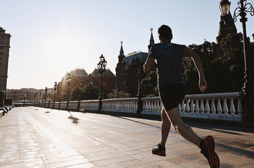Jogger in Moskau