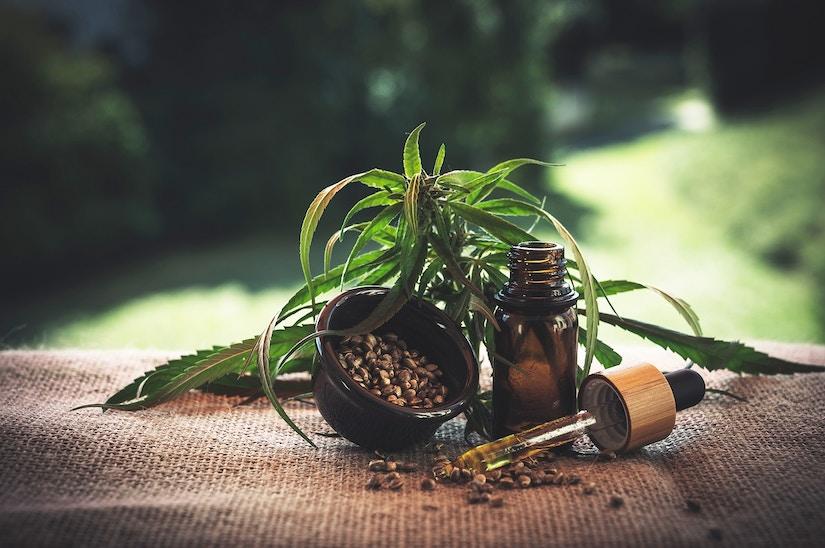 CBL Öl mit Pflanze und Same.