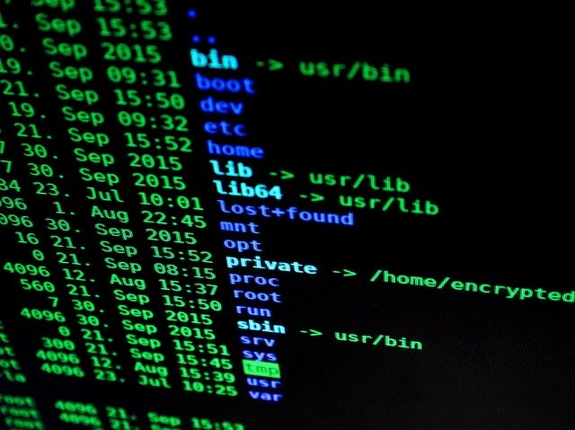 Bildschirm mit Computercode