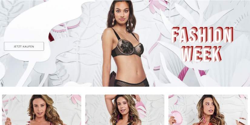 Screenshot Hunkemöller- Fashion Week