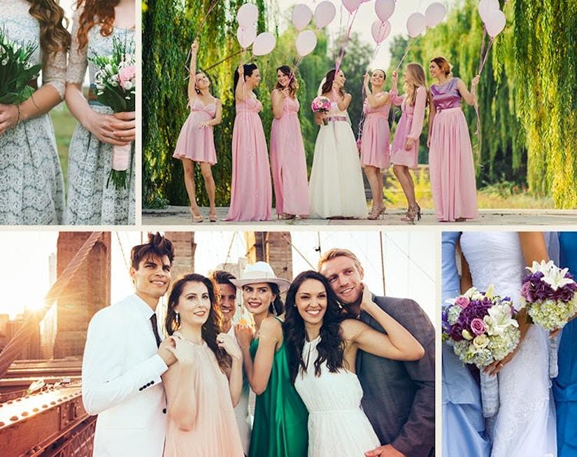 Collage aus Hochzeitsmotiven