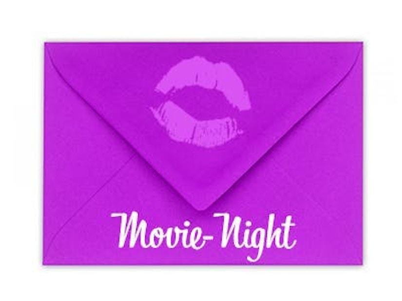 """Ein Briefumschlag mit dem Schriftzug """"Movie-Night"""""""