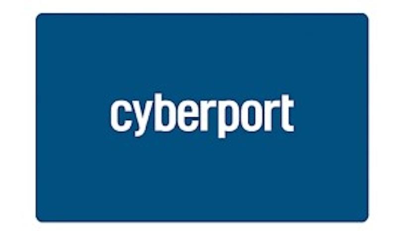 Cyberport Geschenkgutschein auf weißem Hintergrund