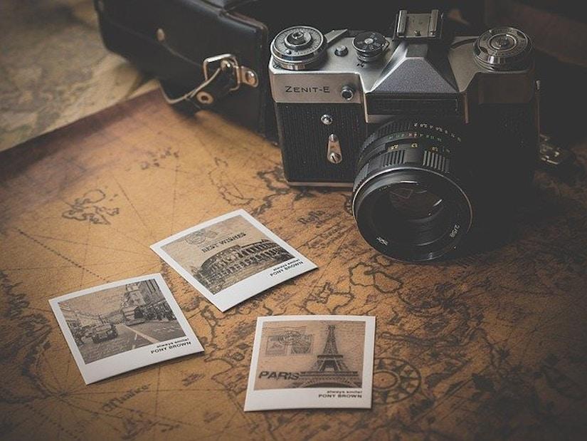 Kamera, Karte, Fotos