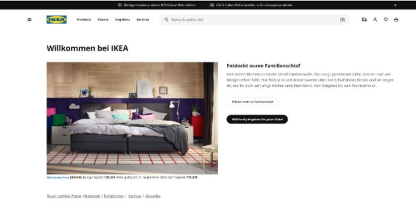 Screenshot IKEA
