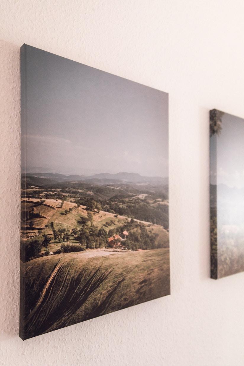 Landschafts-Foto auf Leinwand gedruckt